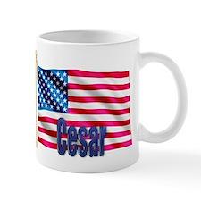 Cesar American Flag Gift Small Mug