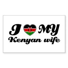 I love my Kenyan Wife Rectangle Decal