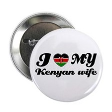 """I love my Kenyan Wife 2.25"""" Button (10 pack)"""