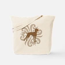 Tan & Brown Vizsla Tote Bag