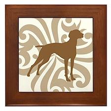 Tan & Brown Vizsla Framed Tile