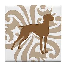 Tan & Brown Vizsla Tile Coaster