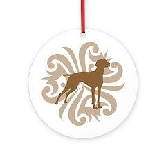 Tan & Brown Vizsla Ornament (Round)