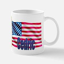 Cedric American Flag Gift Mug