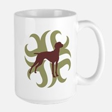 Vizsla Dog Tribal Large Mug