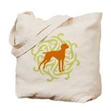 Lime & Rust Vizsla Tote Bag