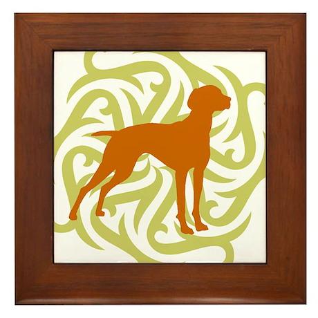 Lime & Rust Vizsla Framed Tile