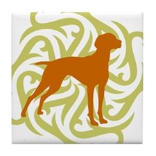 Lime & Rust Vizsla Tile Coaster
