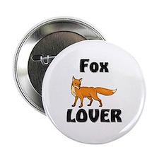 """Fox Lover 2.25"""" Button"""