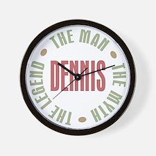 Dennis Man Myth Legend Wall Clock