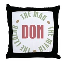 Don Man Myth Legend Throw Pillow