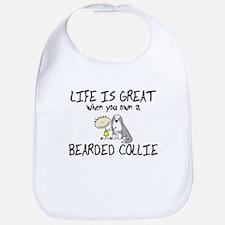 Life is Great Bearded Collie Bib