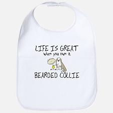 LiG Fawn Bearded Collie Bib