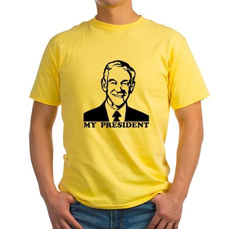 Ron Paul, My President Yellow T-Shirt