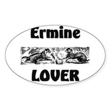 Ermine Lover Oval Decal