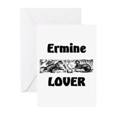 Ermine Lover Greeting Cards (Pk of 10)