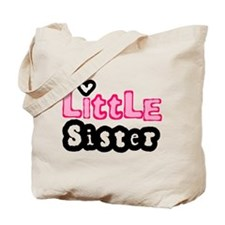 Little Sister in Pink Tote Bag