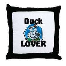 Duck Lover Throw Pillow