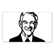 Ron Paul Stencil Rectangle Decal