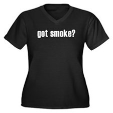 got smoke? Women's Plus Size V-Neck Dark T-Shirt