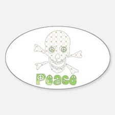Peace Skull Oval Decal