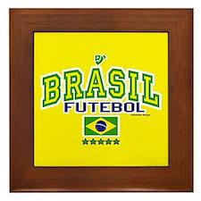Brasil Futebol/Brazil Soccer/Football Framed Tile