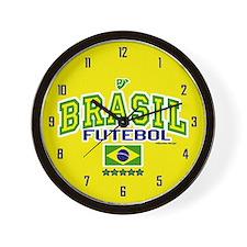 Brasil Futebol/Brazil Soccer/Football Wall Clock