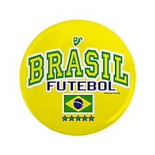 "Brasil Futebol/Brazil Soccer/Football 3.5"" Button"