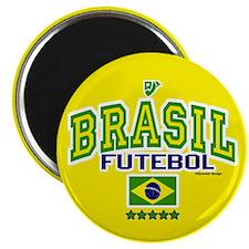 """Brasil Futebol/Brazil Soccer/Football 2.25"""" Magnet"""