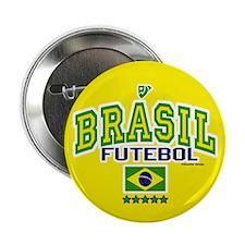 "Brasil Futebol/Brazil Soccer/Football 2.25"" Button"