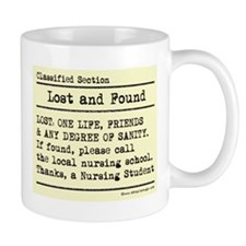 Lost Found Student Nurse Mug