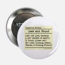"""Lost Found Student Nurse 2.25"""" Button (10 pack)"""