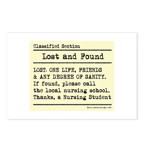 Lost Found Student Nurse Postcards (Package of 8)