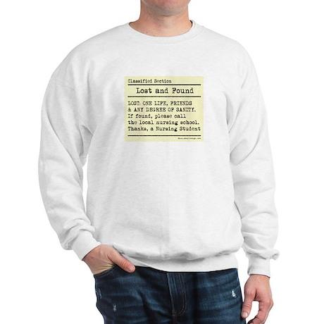 Lost Found Student Nurse Sweatshirt