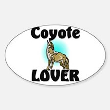 Coyote Lover Oval Decal