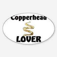Copperhead Lover Oval Decal