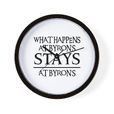 STAYS AT BYRON'S Wall Clock