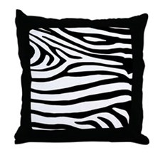Black and White Zebra Striped Pillow