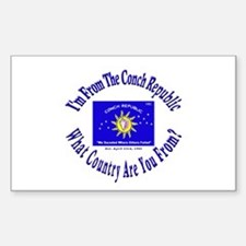 Conch Republic Rectangle Decal