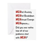 Men Problems - Greeting Cards (Pk of 10)