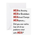 Men Problems - Greeting Card