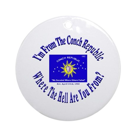 Conch Republic 2 Ornament (Round)