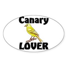Canary Lover Oval Decal