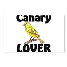 Canary Lover Rectangle Decal