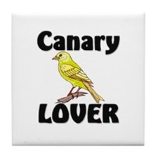 Canary Lover Tile Coaster