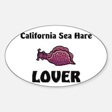 California Sea Hare Lover Oval Decal