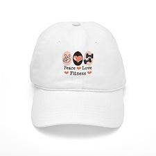 Peace Love Fitness Baseball Cap