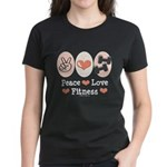 Peace Love Fitness Women's Dark T-Shirt
