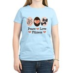Peace Love Fitness Women's Light T-Shirt