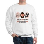 Peace Love Fitness Sweatshirt